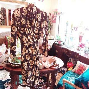 Dana Buchman Floral Wrap Dress